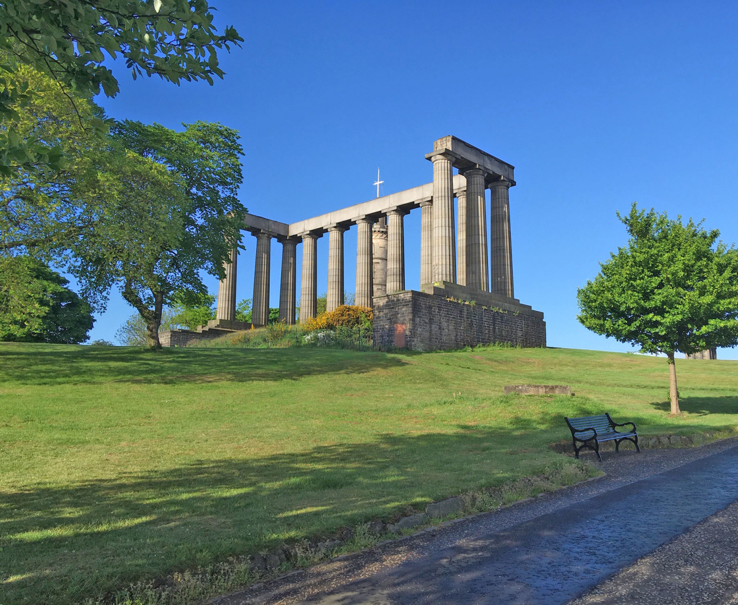 Calton Hill Edinburgh, 21 May, without the usual visitors © Anne Edwards
