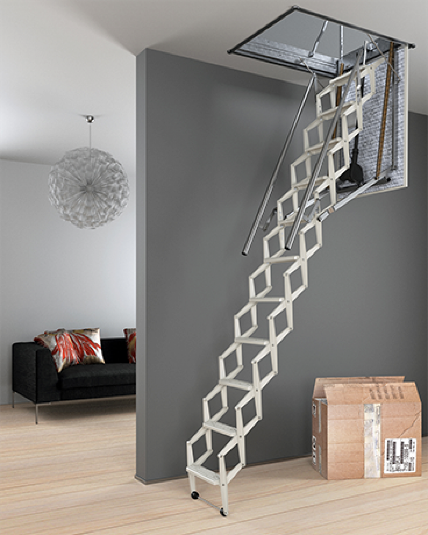 Escalmatic Electric Loft Ladder Style Safety And Convenience