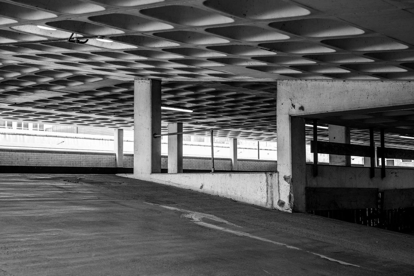 Taken in my home city of Bath. The usually very busy Avon Street multi-story car park was totally empty and deserted. © Mark Dunscombe