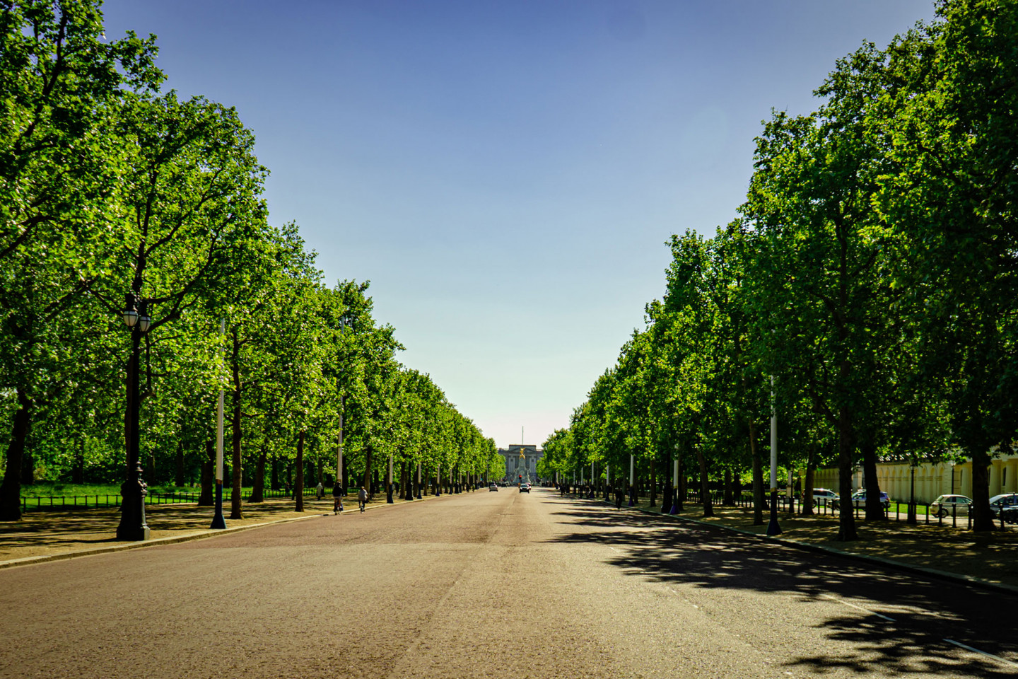 Looking down the Mall towards Buckingham Palace May 12, 8.50am © Richard Lawrence