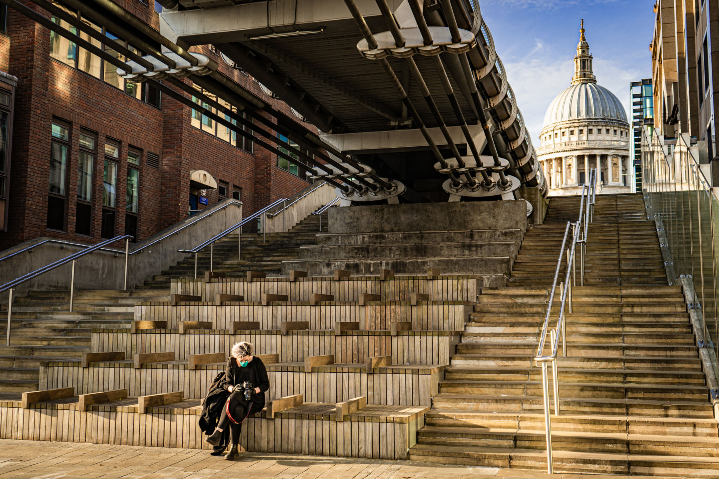 A background of St Pauls early morning on May 4th © Richard Lawrence
